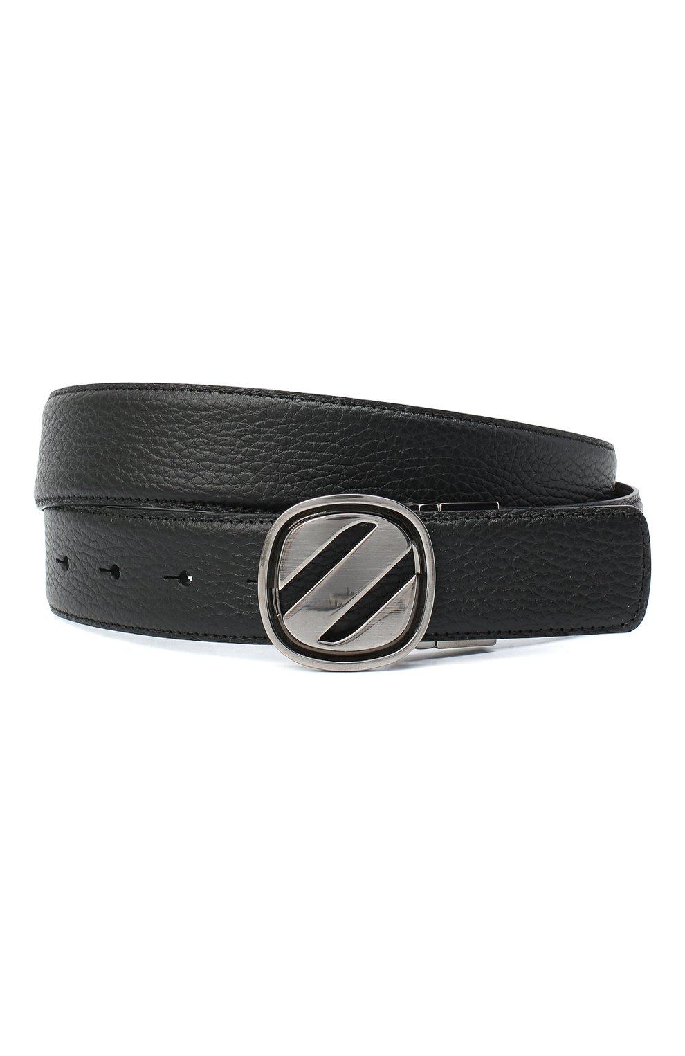 Мужской кожаный ремень ZEGNA COUTURE черного цвета, арт. B1GL1B/J1233A | Фото 1 (Случай: Формальный)