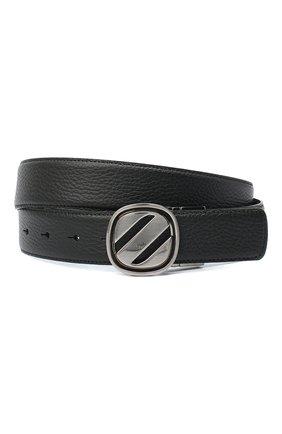 Мужской кожаный ремень ZEGNA COUTURE черного цвета, арт. B1GL1B/J1233A | Фото 1