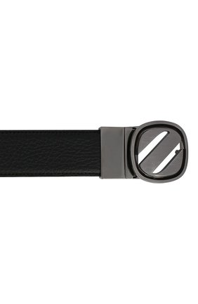 Мужской кожаный ремень ZEGNA COUTURE черного цвета, арт. B1GL1B/J1233A | Фото 3 (Случай: Формальный)