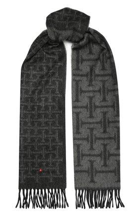 Мужской кашемировый шарф KITON серого цвета, арт. USCIACX03T01 | Фото 1