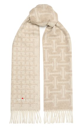 Мужской кашемировый шарф KITON бежевого цвета, арт. USCIACX03T01 | Фото 1
