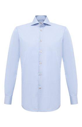 Мужская хлопковая сорочка KITON голубого цвета, арт. UCIH0660811   Фото 1