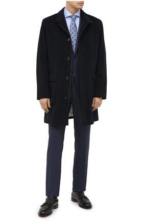 Мужская хлопковая сорочка KITON голубого цвета, арт. UCIH0660811   Фото 2
