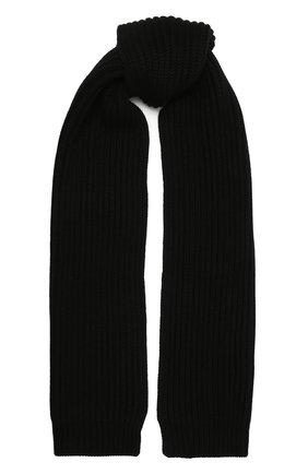 Мужской кашемировый шарф DOLCE & GABBANA черного цвета, арт. GXC78T/JAW5K | Фото 1