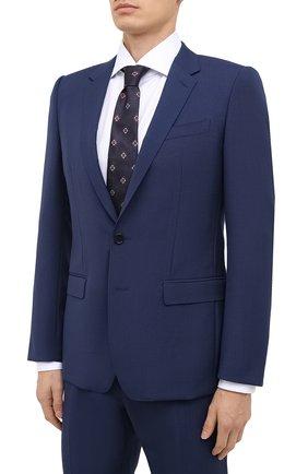 Мужской шерстяной костюм DOLCE & GABBANA синего цвета, арт. GK0EMT/FU21U | Фото 2
