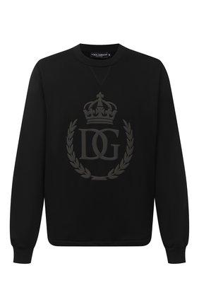 Мужской хлопковый свитшот DOLCE & GABBANA черного цвета, арт. G9SY5Z/G7WTE | Фото 1