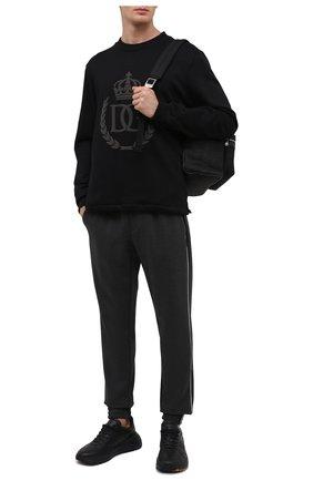 Мужской хлопковый свитшот DOLCE & GABBANA черного цвета, арт. G9SY5Z/G7WTE | Фото 2