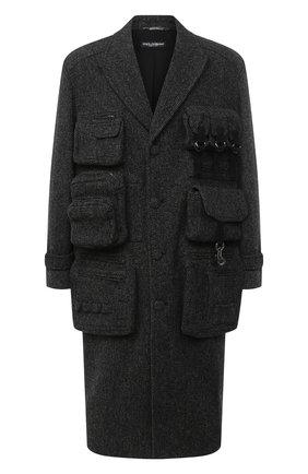 Мужской шерстяное пальто DOLCE & GABBANA серого цвета, арт. G024KT/FC2E6 | Фото 1