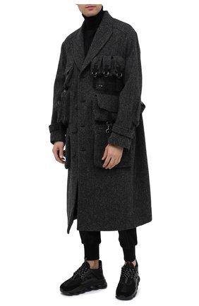 Мужской шерстяное пальто DOLCE & GABBANA серого цвета, арт. G024KT/FC2E6 | Фото 2