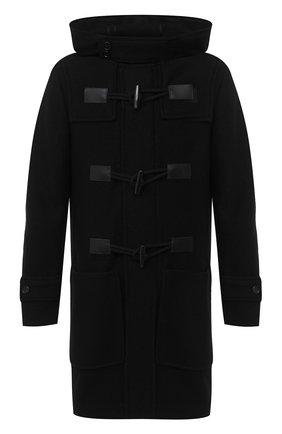 Мужской шерстяное пальто DOLCE & GABBANA черного цвета, арт. G023ST/HU7GD | Фото 1