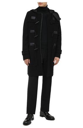 Мужской шерстяное пальто DOLCE & GABBANA черного цвета, арт. G023ST/HU7GD | Фото 2