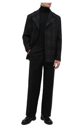 Мужской бушлат из шерсти и хлопка DOLCE & GABBANA черного цвета, арт. G023RT/FQ7BD | Фото 2