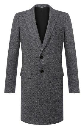 Мужской шерстяное пальто DOLCE & GABBANA серого цвета, арт. G0230T/FC7AQ | Фото 1