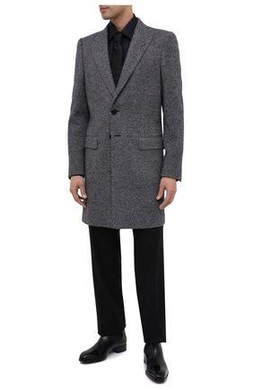 Мужской шерстяное пальто DOLCE & GABBANA серого цвета, арт. G0230T/FC7AQ | Фото 2