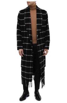 Мужской шерстяное пальто DOLCE & GABBANA темно-серого цвета, арт. G021RT/HHM8U | Фото 2