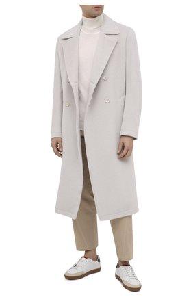 Мужской шерстяное пальто DOLCE & GABBANA белого цвета, арт. G015UT/FU3IK | Фото 2