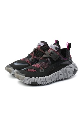 Мужские текстильные кроссовки ispa overreact flyknit NIKELAB черного цвета, арт. CD9664-002 | Фото 1