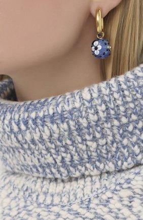 Женские серьги TIMELESS PEARLY голубого цвета, арт. B0FD+D   Фото 2