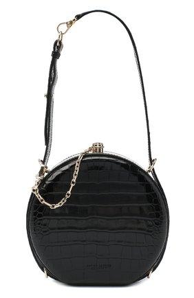 Женская сумка из кожи аллигатора canteen RALPH LAUREN черного цвета, арт. 435790384/AMIS | Фото 1