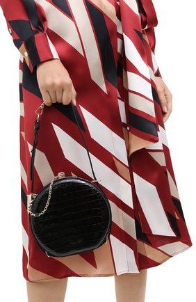 Женская сумка из кожи аллигатора canteen RALPH LAUREN черного цвета, арт. 435790384/AMIS | Фото 2