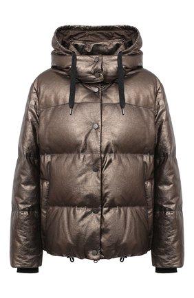 Женский пуховая куртка BRUNELLO CUCINELLI коричневого цвета, арт. M0PEL8538 | Фото 1