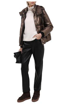 Женский пуховая куртка BRUNELLO CUCINELLI коричневого цвета, арт. M0PEL8538 | Фото 2