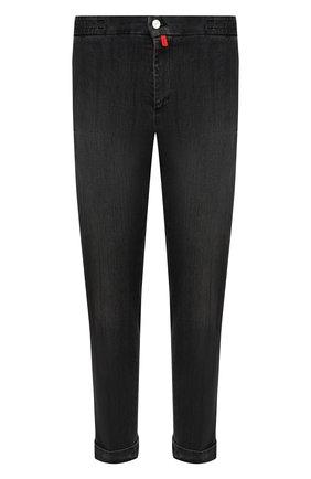Мужские джинсы KITON черного цвета, арт. UFPLAC/J02T63 | Фото 1