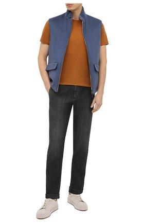 Мужские джинсы KITON черного цвета, арт. UFPLAC/J02T63 | Фото 2