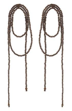 Женские серьги BRUNELLO CUCINELLI коричневого цвета, арт. M0RW9LB20P/M | Фото 1