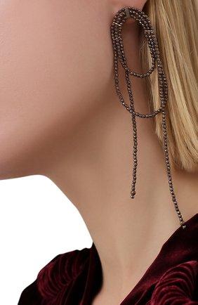Женские серьги BRUNELLO CUCINELLI коричневого цвета, арт. M0RW9LB20P/M | Фото 2