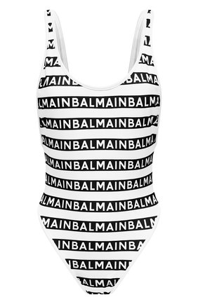 Женский слитный купальник BALMAIN черно-белого цвета, арт. BKBGC0010 | Фото 1