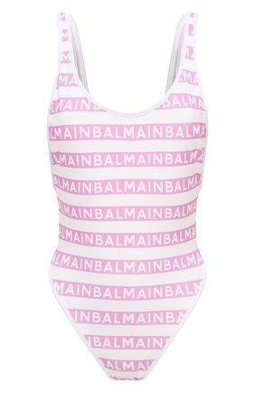 Женский слитный купальник BALMAIN розового цвета, арт. BKBGC0010 | Фото 1