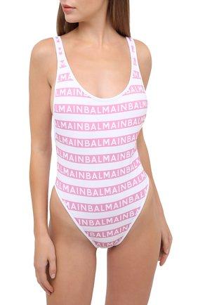 Женский слитный купальник BALMAIN розового цвета, арт. BKBGC0010 | Фото 2