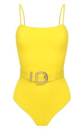 Женский слитный купальник BALMAIN желтого цвета, арт. BKBUZ0060 | Фото 1