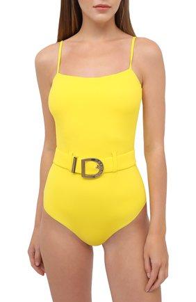 Женский слитный купальник BALMAIN желтого цвета, арт. BKBUZ0060 | Фото 2