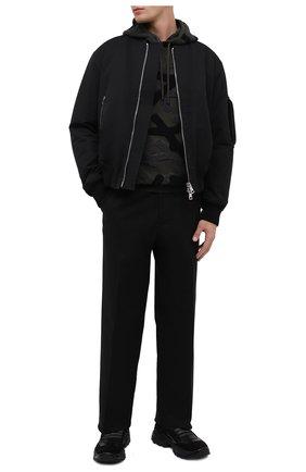 Мужские комбинированные кроссовки SERGIO ROSSI черного цвета, арт. A87740-MFI207 | Фото 2
