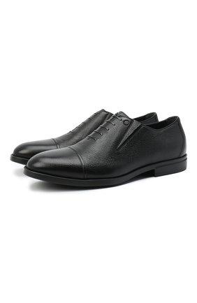 Мужские кожаные лоферы ALDO BRUE черного цвета, арт. AB4039.CM.P.BU | Фото 1