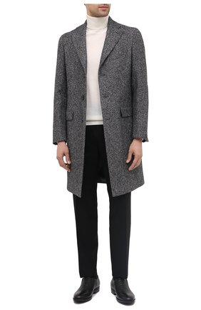 Мужские кожаные лоферы ALDO BRUE черного цвета, арт. AB4039.CM.P.BU | Фото 2