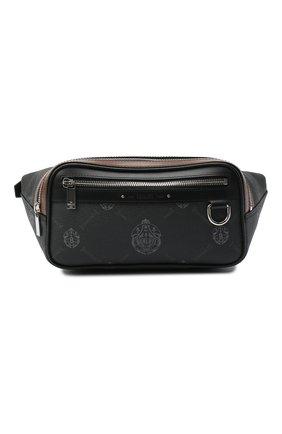 Мужская поясная сумка BERLUTI черного цвета, арт. M207350 | Фото 1