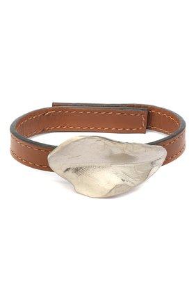 Женский кожаный браслет MARNI коричневого цвета, арт. BRMV0102A0/P3000 | Фото 1