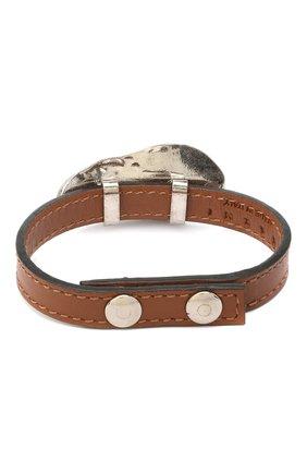 Женский кожаный браслет MARNI коричневого цвета, арт. BRMV0102A0/P3000 | Фото 2