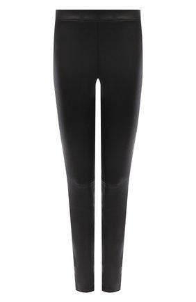 Женские кожаные брюки THEORY черного цвета, арт. I0700205 | Фото 1