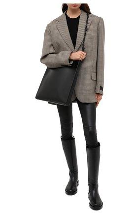Женские кожаные брюки THEORY черного цвета, арт. I0700205 | Фото 2