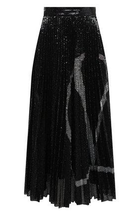 Женская юбка с пайетками VALENTINO черного цвета, арт. UB3MD02E5NF | Фото 1