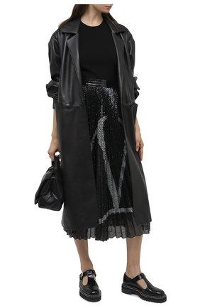 Женская юбка с пайетками VALENTINO черного цвета, арт. UB3MD02E5NF | Фото 2