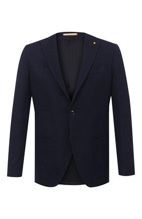 Мужской шерстяной пиджак SARTORIA LATORRE темно-синего цвета, арт. G0I7MF U80173 | Фото 1