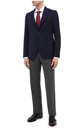Мужской шерстяной пиджак SARTORIA LATORRE темно-синего цвета, арт. G0I7MF U80173 | Фото 2