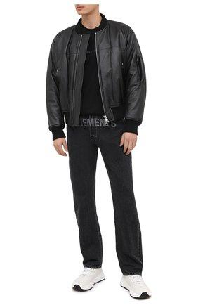 Мужская хлопковая футболка RTA черного цвета, арт. MF0346-25BLK4 | Фото 2