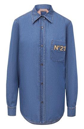 Женская джинсовая рубашка N21 синего цвета, арт. 20I N2P0/G053/0225 | Фото 1