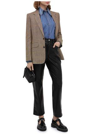 Женская джинсовая рубашка N21 синего цвета, арт. 20I N2P0/G053/0225 | Фото 2